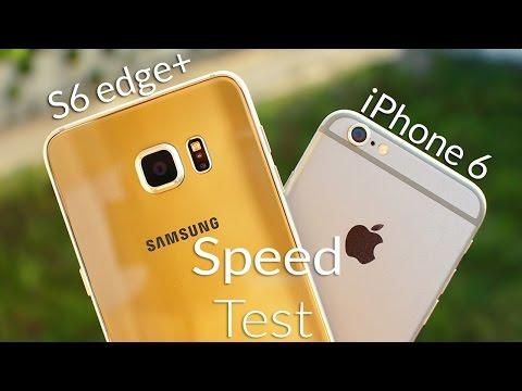 Samsung Galaxy S6 Edge Plus vs iPhone 6 Speed Test 4K