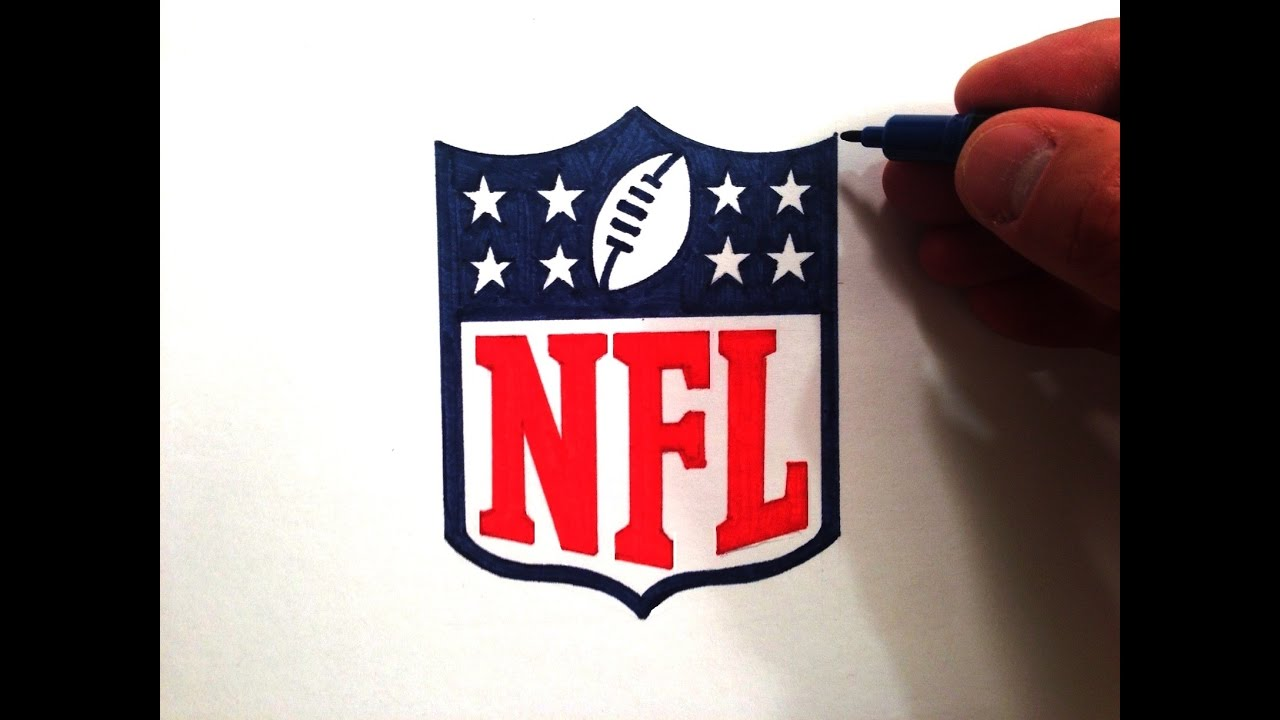 How To Draw the NFL Logo - YouTube