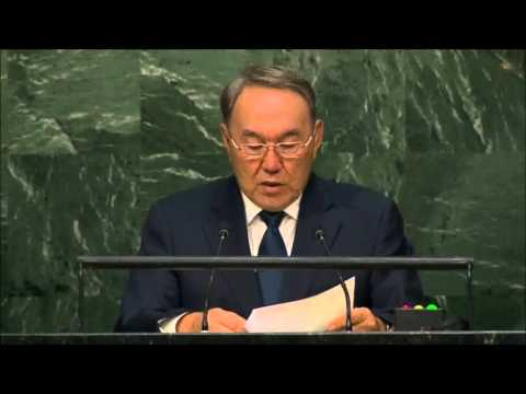 Kazakhstan President: Nursultan Nazarbayev Full Speech at the UN (English) 28th September, 2015
