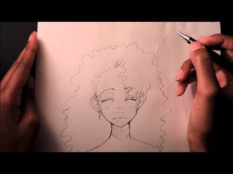 how-to-draw-curly/afro-hair