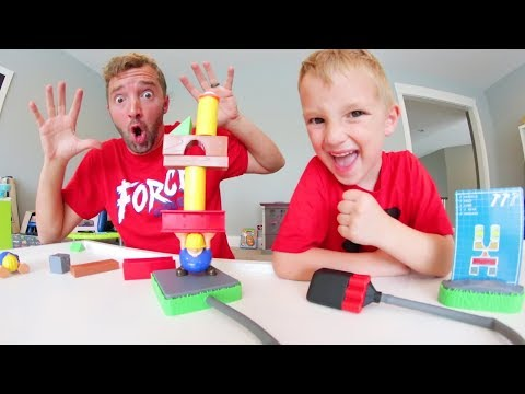 Father & Son PLAY BUILD OR BOOM!  Dont Get Exploded!