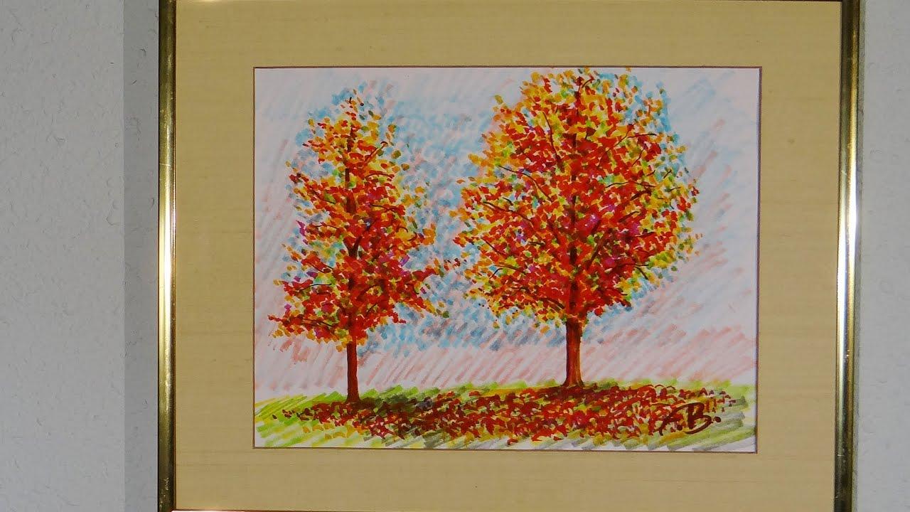 Easy Marker Art Fall Foliage 2 Youtube