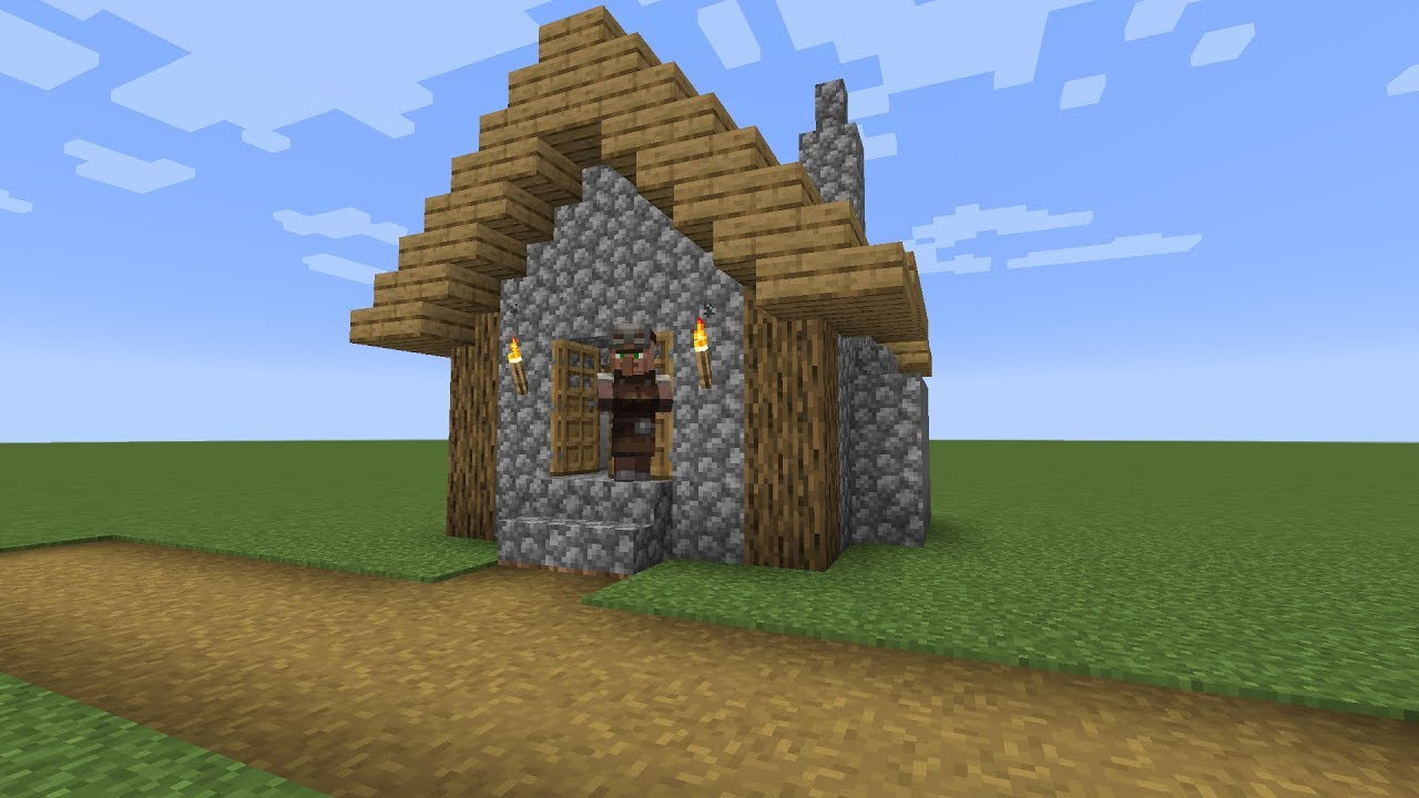 How to build a Minecraft Village Armorer House (9.94 plains)
