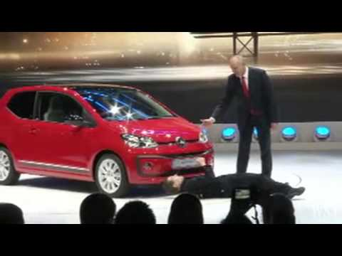 Volkswagen Presentation Interrupted by Protester at the Geneva Motor Show 2016