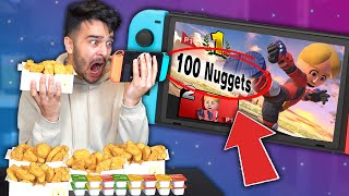 Letting NINTENDO GAMES Decide What I Eat for 24 HOURS! (FOOD CHALLENGE)