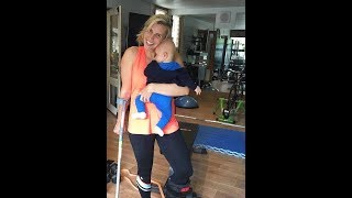 Tiffiny Hall completes grueling workout with broken ankle