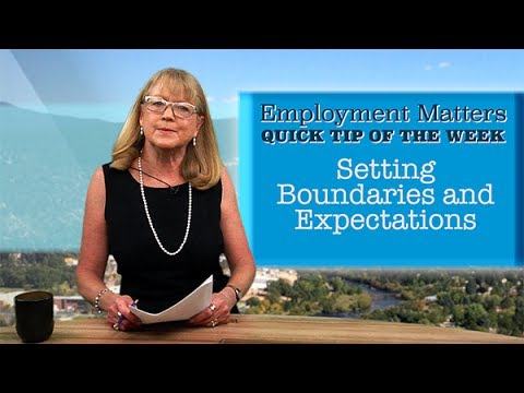 Employment Matters: Balancing Work with Your Life