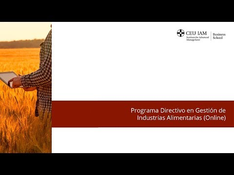 Expert Program in Management of Food Industries (online) - Youtube frame