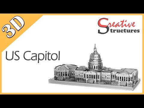 3D metal model & puzzle - US Capitol (United States Architecture)