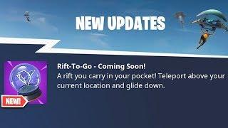 """NEW """"RIFT TO GO"""" Item in Fortnite.."""