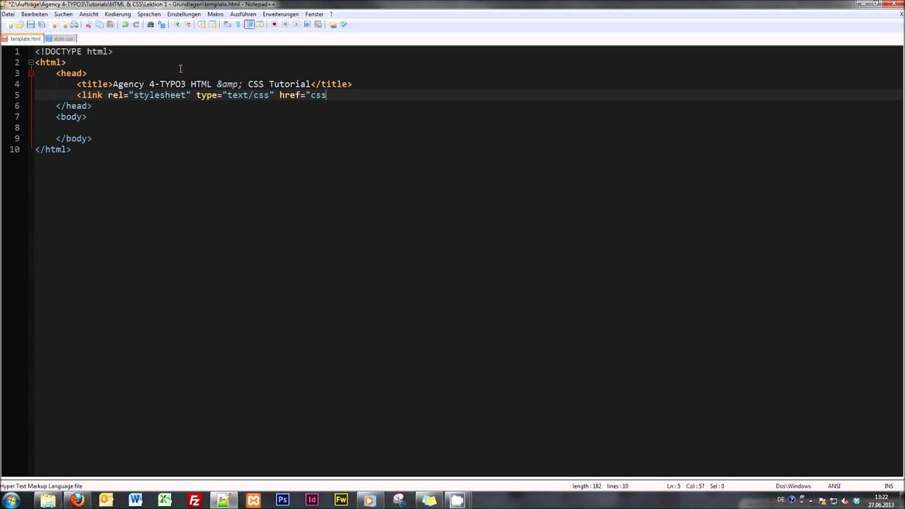 Html grundlagen #1 html + css tutorial-reihe youtube.
