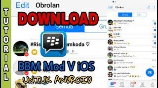 Download BBM Mod Versi IOS Untuk Android