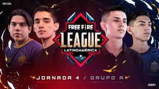 ¡Jornada 4 EN VIVO Free Fire League - Apertura 🔥 | Grupo A