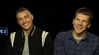 PART ONE - Jesse Eisenberg addresses Dave Franco's biggest fear 'Now You See Me 2' interview thumbnail