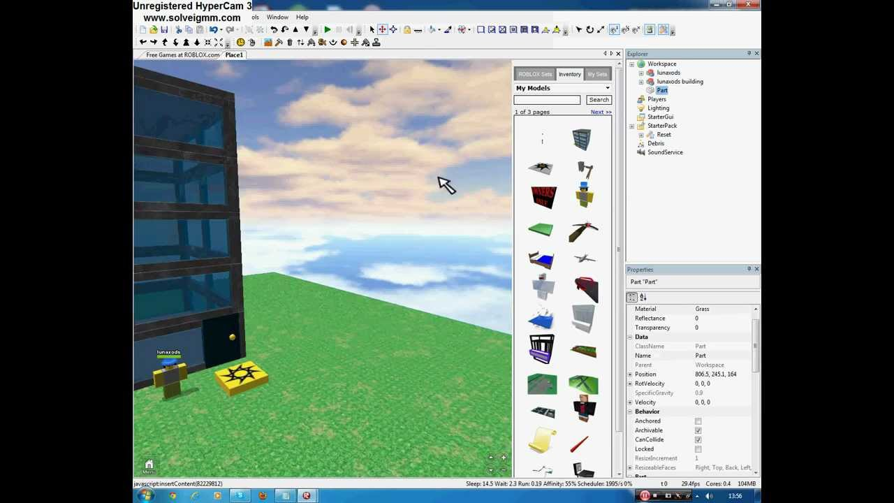 how to make a roblox place a start place