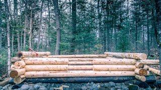 Charred Wood Foundation   Shou Sugi Ban   Log Cabin Sauna Ep 5