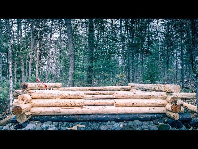 Charred Wood Foundation | Shou Sugi Ban | Log Cabin Sauna Ep 5