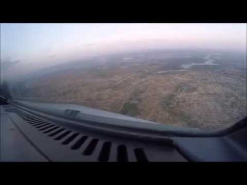 fastjet - Landing at Harare (filmed from the cockpit)
