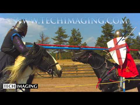 High Speed Camera Video - Knights Jousting