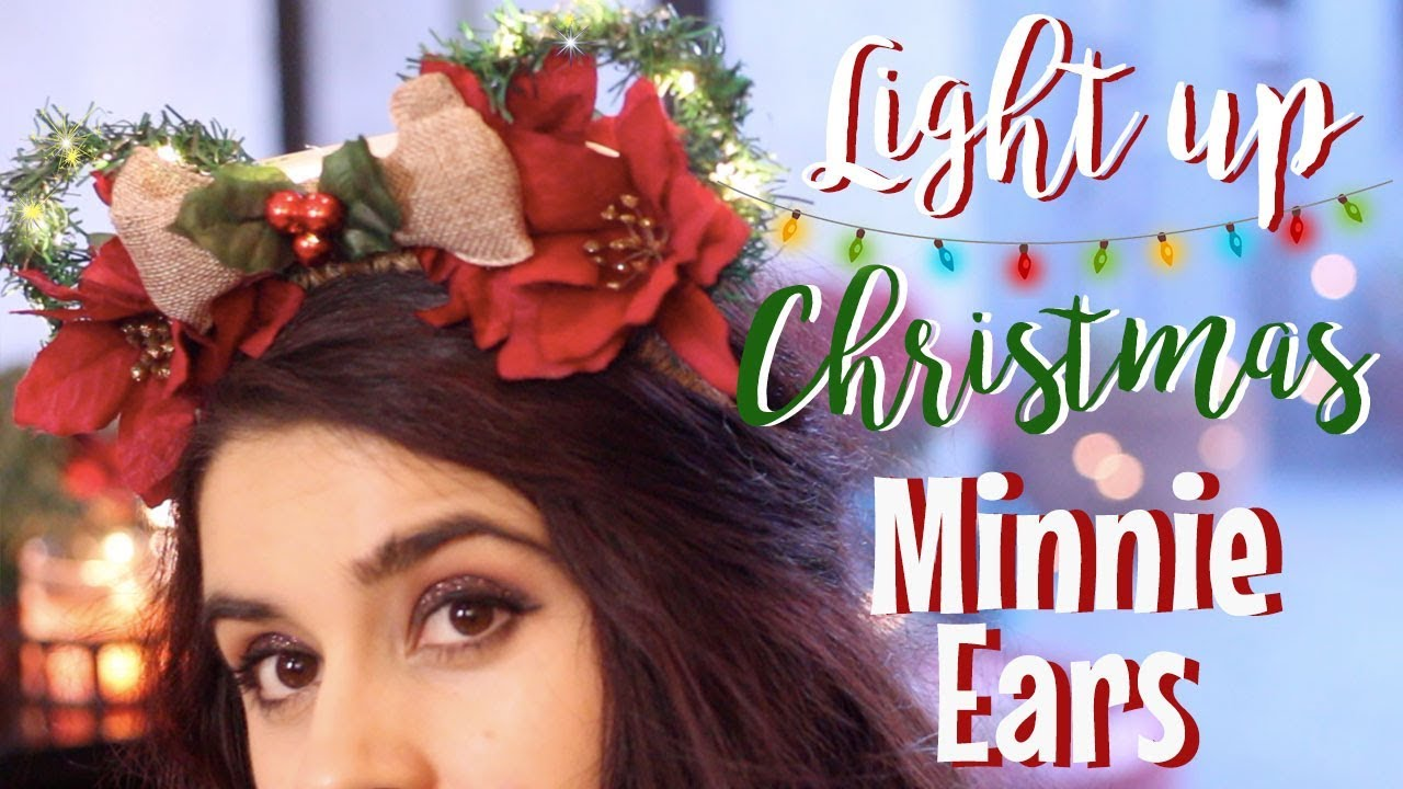 easy disney diys light up christmas minnie ears