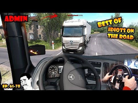 ★ BEST OF Idiots On The Road - ETS2MP - Ep. 61-70 | Tony 747 - Best Moments