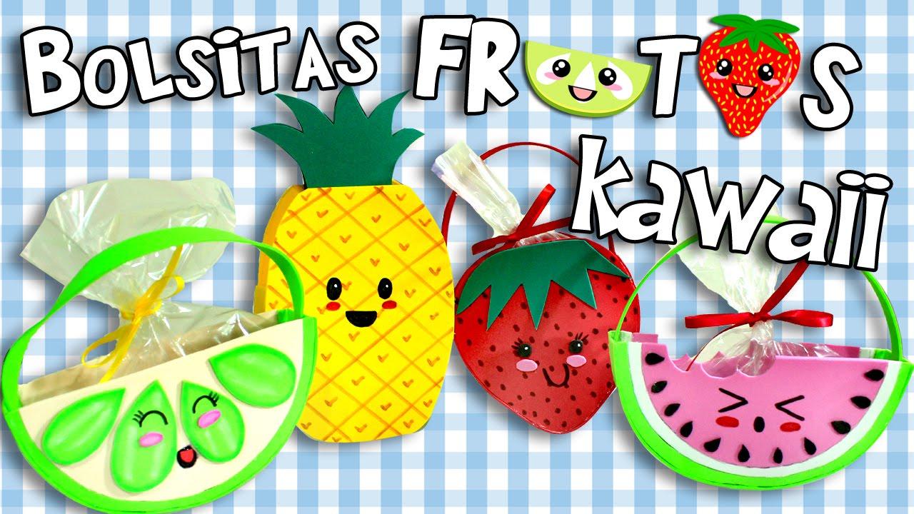Bolsitas para dulces kawaii frutas youtube for Como secar frutas para decoracion