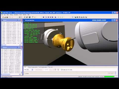 Icam Nc Post-Processing, Cnc Machine Simulation For Mazak