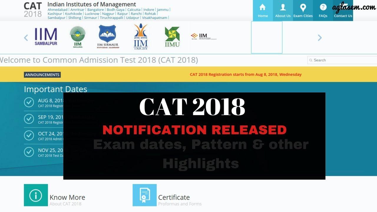 CAT - Common Admission Test   AglaSem Admission