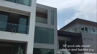 Kun Tew House Bang Bon 5 x BALCONIC ราวกันตก ราวบันได ระเบียง กระจก สแตนเลส Temper glass