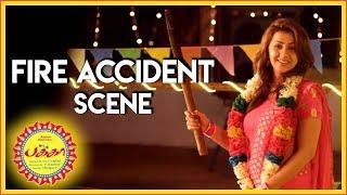 Pakka - Nikki Galrani Fire Accident Scene | Vikram Prabhu | Nikki Galrani | Bindhu Madhavi