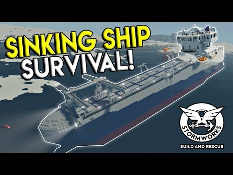 SINKING SHIP SURVIVAL & BURGER HELICOPTER! - Stormworks: Build and Rescue Update Gameplay