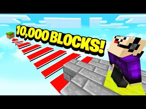 WORLDS LONGEST MINECRAFT JUMP! (10,000 BLOCKS)