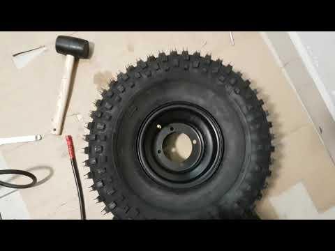 Бортировка шин своими руками | Как собрать колесо квадроцикла.