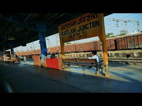 Ratlam Junction railway station, Madhya Pradesh, India. रतलाम जंक्शन रेलवे स्टेशन,मध्य प्रदेश, भारत