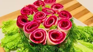 Настоящее украшение стола! Этот салат станет идеальным дополнением праздничного стола