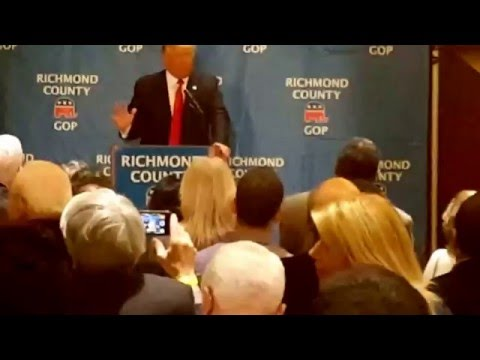 Donald Trump speaks at Hilton Garden Inn in Staten Island