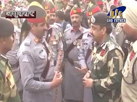 Sweets Exchanged  By D.G Pakistan and Indian D.I.G. M.F.Farooqui BSF On Wagah Border