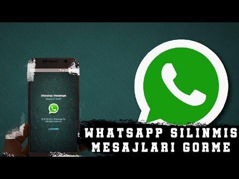 WhatsApp Herkesten Silinmiş Mesajları Görme 2018 |KANITLI|
