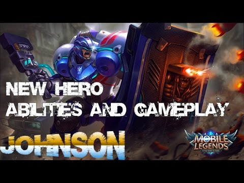 Mobile Legends - New Hero JOHNSON ABILILITIES and GAMEPLAY Preview In Game Next Udpate 1.1.64