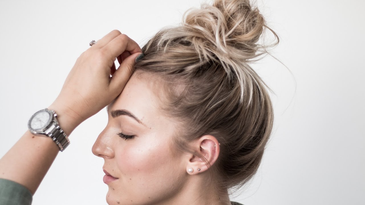 Easy Messy Bun Tutorial Youtube