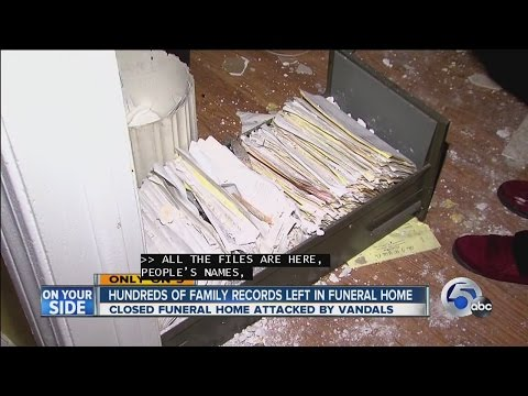 Cleveland family personal records left exposed to criminals at abandoned funeral home House of Wills