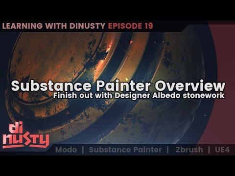 Substance Painter Overview and working in designer. [EP19]