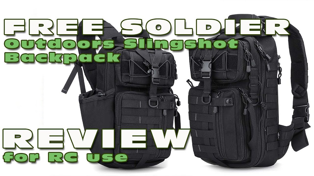 review of the free soldier slingshot backpack for rc use youtube