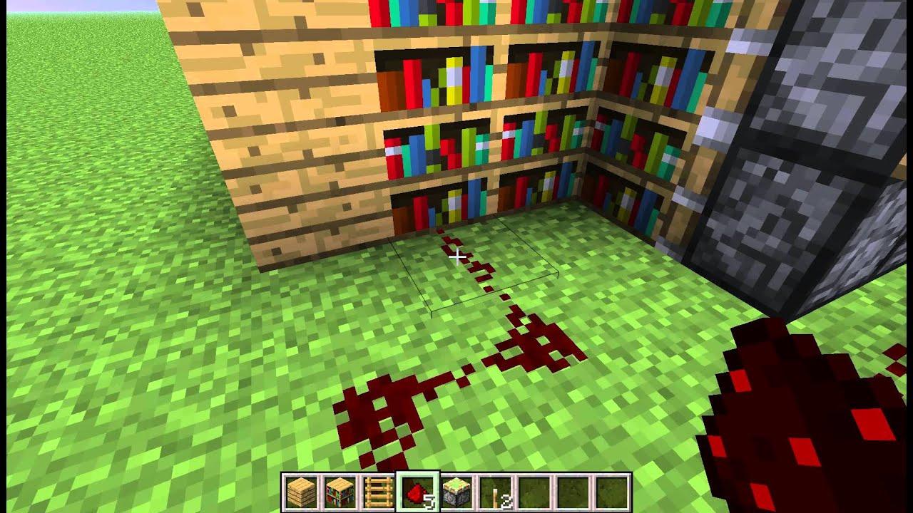 Minecraft How To Make Moving Bookshelf Door Youtube