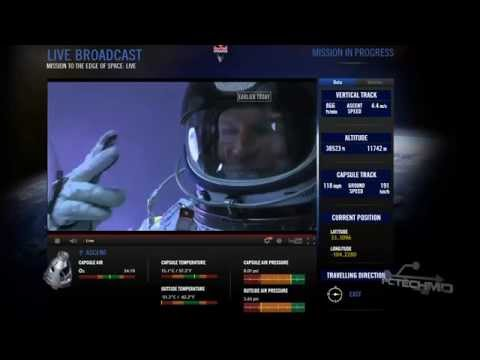 Red Bull Stratos Felix Baumgartner Skydive From Space SUCCESS. HD