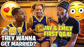 JAY & EMILY FIRST Q&A! (THEY WANNA GET MARRIED?)