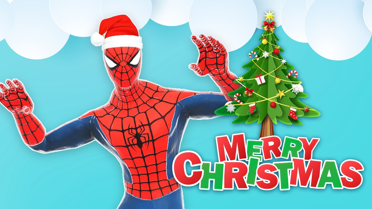 Jingle Bells Songs with Spider Man dancing - YouTube