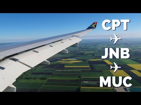 South African Airways flight from South Africa to Germany travel vlog (Cape Town - Joburg - Munich)