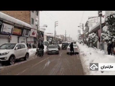 La nevada del siglo en Irán