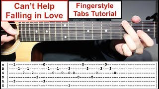 Can't Help Falling in Love - Elvis Presley | Easy Fingerstyle Tabs Guitar Lesson (Tutorial)